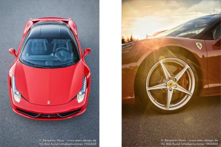 Ferrari 458 Italia Fotoshooting
